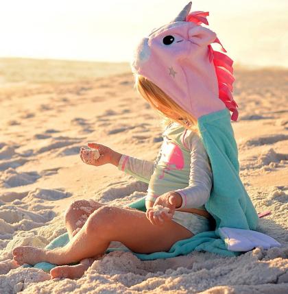 """Детское полотенце с капюшоном Zoocchini """"Единорожек"""""""