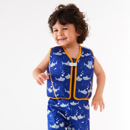 """Детский жилет для плавания со съемными поплавками Splash About """"Акуленок"""""""