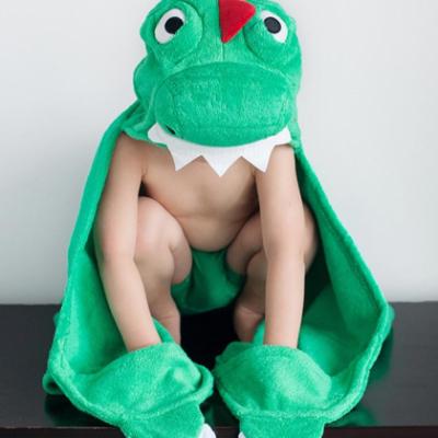 "Детское полотенце с капюшоном Zoocchini ""Динозаврик"""
