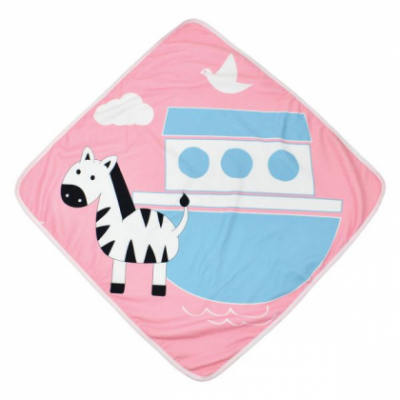 """Детское полотенце с уголком Splash About """"Розовые джунгли"""""""