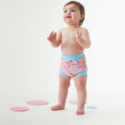 Плавки-подгузник Splash About Happy Nappy «Розовые джунгли»