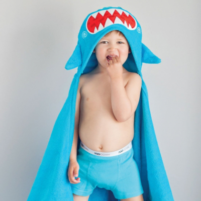 """Детское полотенце с капюшоном Zoocchini """"Акула"""""""