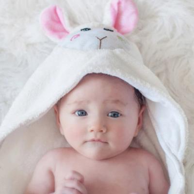 """Детское полотенце с капюшоном Zoocchini """"Овечка"""""""