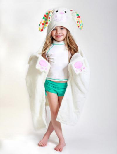 """Детское полотенце с капюшоном Zoocchini """"Зайка"""""""