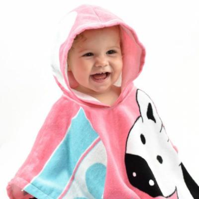 """Детское полотенце-пончо """"Розовые джунгли"""""""